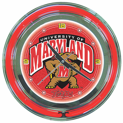 Maryland University Neon Clock