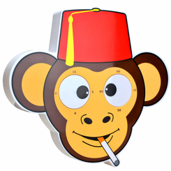 The MesmerEYEzing Monkey Rolling Eyes Clock