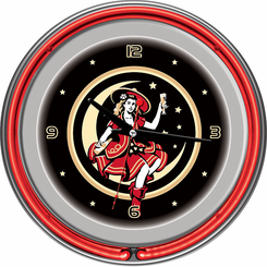 Miller High Life Girl in the Moon Vintage Neon Clock