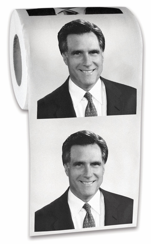Mitt Romney Toilet Paper - Click to enlarge