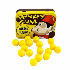Monkey Banana Flavored Bubble Gum