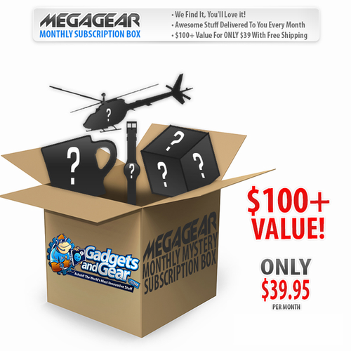 MegaGear: Monthly Mystery Subscription Box - Click to enlarge