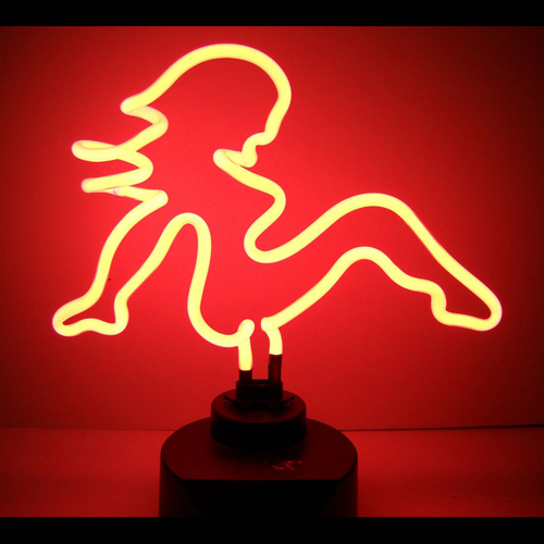 Mud Flap Girl Neon Sculpture Light - Click to enlarge