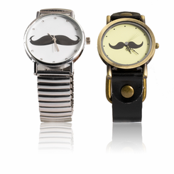 Mustache Watch 2 Pack