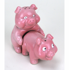 The Naughty Pigs Salt And Pepper Shaker Set
