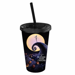 NBC Poster 16oz Plastic Cold Cup w/ Lid and Straw