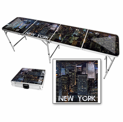 New York City Skyline Beer Pong Table