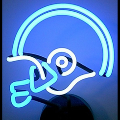 NFL Football Helmet Neon Sign