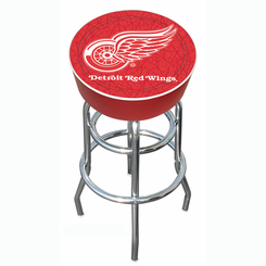 NHL Detroit Redwings Padded Bar Stool