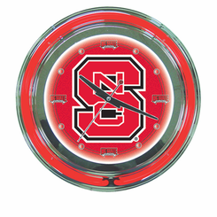 North Carolina State Neon Clock