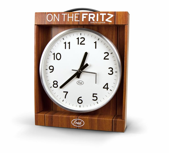 on the fritz broken office wall clock awesome prank idea