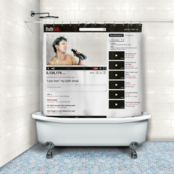 Online Video Shower Curtain