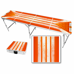 Orange Stripes Beer Pong Table