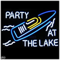 Party at the Lake Neon Sign