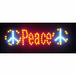 Peace Sign Led Signs