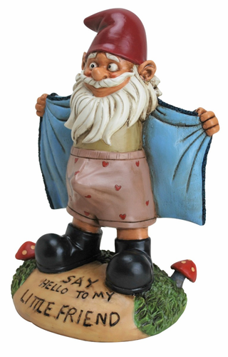 Perverted Lawn Gnome - Click to enlarge
