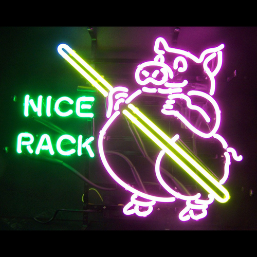 Pig Pool Nice Rack Neon Sign - Click to enlarge