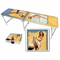 Pin Up Girls Beer Pong Table
