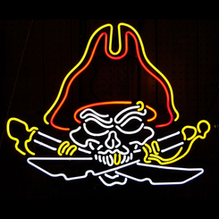 Pirate Skull Neon Sign