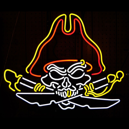 Pirate Skull Neon Sign - Click to enlarge