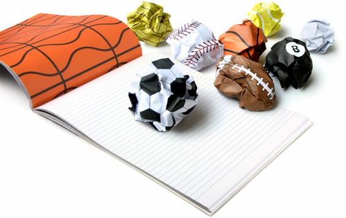 Playmore Sports Ball Notepad - Click to enlarge