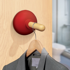 Plunger Door Hook Clothes Hanger