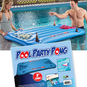 Pool Party Inflatable Beer Pong Table - Click to enlarge