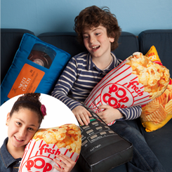 Popcorn Retro Pillow
