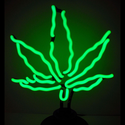 Pot Leaf Neon Sculpture Light