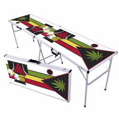 Pot Leaves Beer Pong Table