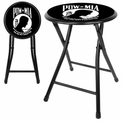 POW 18 Inch Cushioned Folding Stool