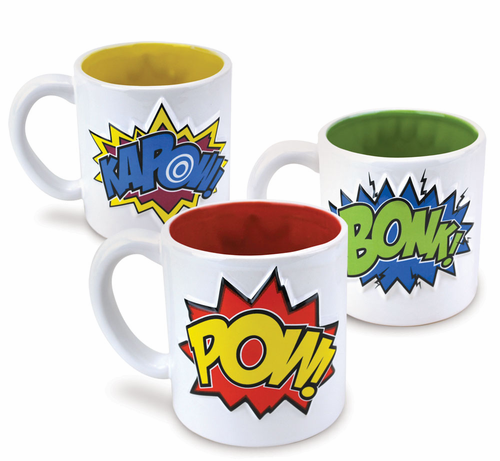 Pow Bonk Kapow 3 Piece Mug Set - Click to enlarge