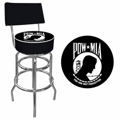 POW Padded Bar Stool with Back