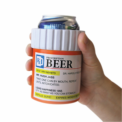 Prescription bottle beer holder