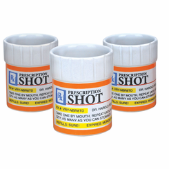 Prescription Bottle Shot Glass Set