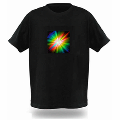Psychedelic Spin Light Up LED Shirt