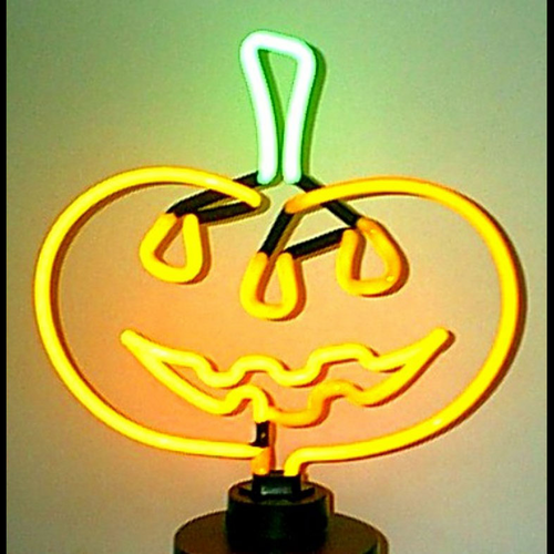Pumpkin Neon Sculpture - Click to enlarge