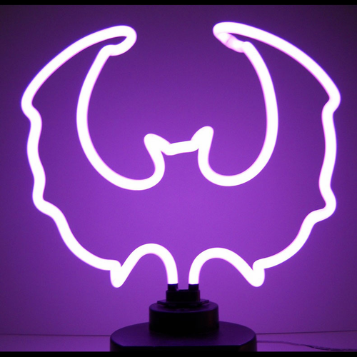 Purple Bat Neon Sculpture - Click to enlarge
