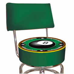 Rackem 8 Ball Padded Bar Stool with Back