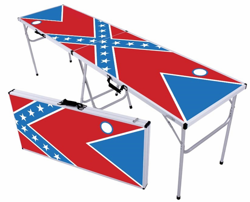 Rebel Flag Beer Pong Table - Click to enlarge
