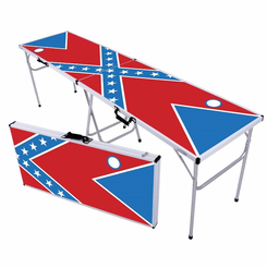 Rebel Flag Beer Pong Table