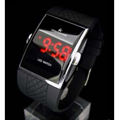 Red Retro LED Watch
