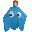 Retro Arcade Ghost Poncho - Blue