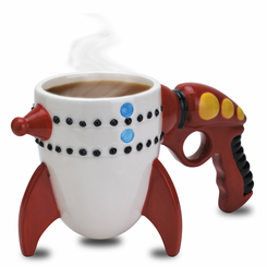 The Retro Ray Gun Rocket Mug