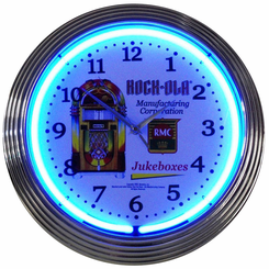 Rock-Ola Jukebox Neon Clock