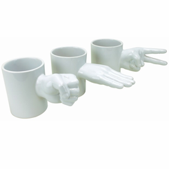 Rock, Paper & Scissors Mug Set