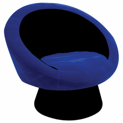 Saucer Chair Black and Blue CHR-SAUCE-BK-BU