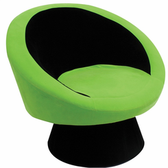 Saucer Chair Black and Green CHR-SAUCE-BK-GN