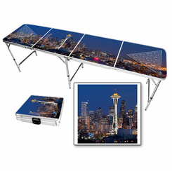 Seattle Skyline Beer Pong Table