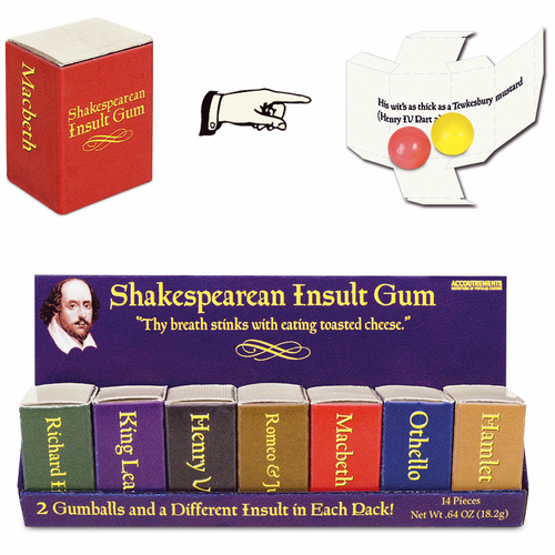Shakespearean Insult Gum - Click to enlarge